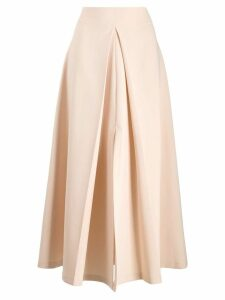 A.W.A.K.E. Mode front pleat skirt - Neutrals