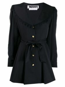 Rotate tie waist flared blazer - Black