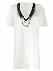 Giacobino bead embellished T-shirt - White