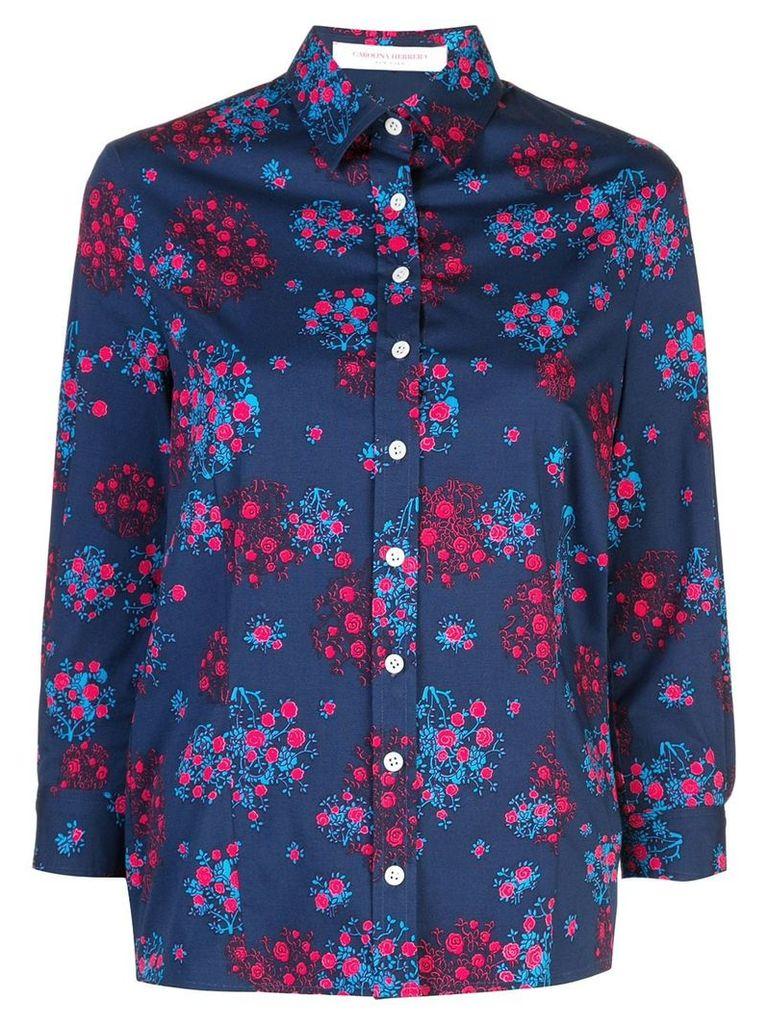 Carolina Herrera floral print shirt - Blue