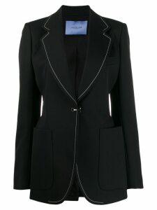 Mugler contrast stitch blazer - Black