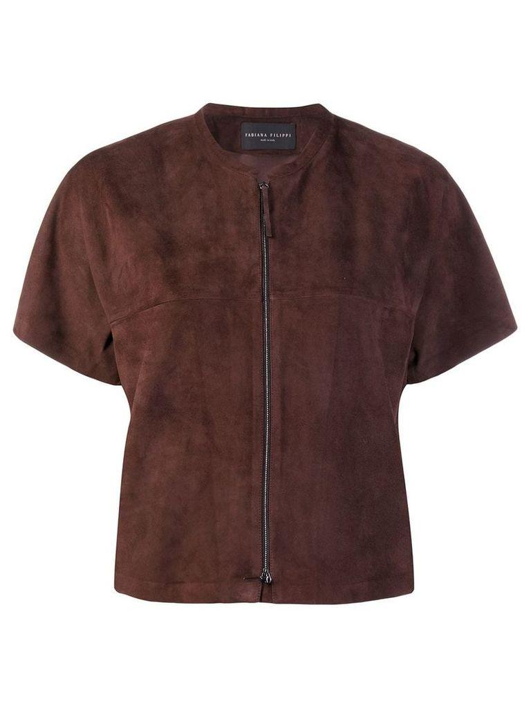 Fabiana Filippi short sleeve jacket - Brown