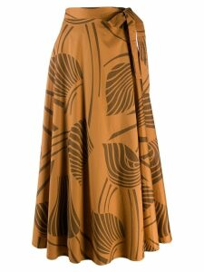Closed side tie skirt - Brown