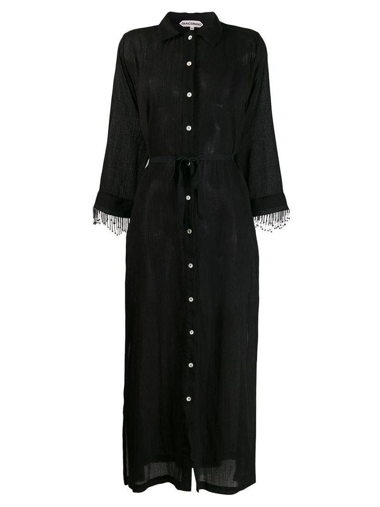 Giacobino bead trimmed dress - Black