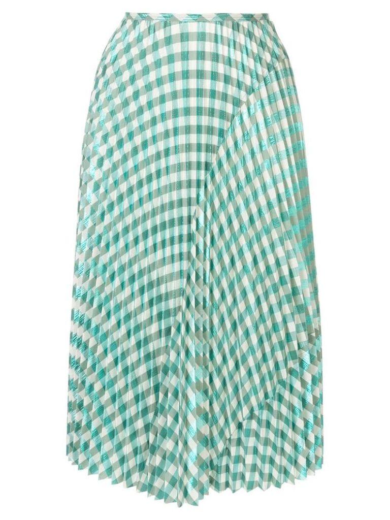 Cédric Charlier gingham skirt - Green