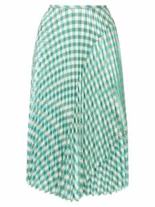Cédric Charlier gingham skirt - Green