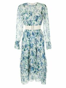 Zimmermann Moncur frill dress - Blue