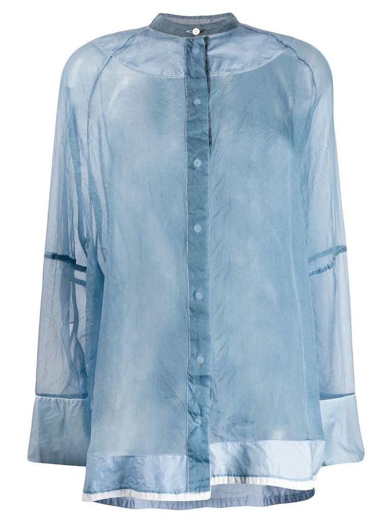 Jil Sander sheer shirt - Blue