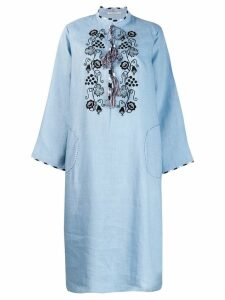 Vita Kin embroidered chest dress - Blue