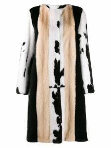 Liska fur midi coat - Black