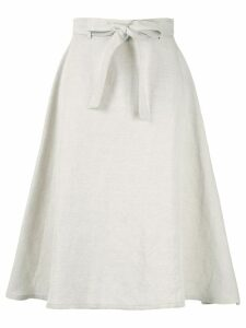 Ballsey tie waist midi skirt - Neutrals