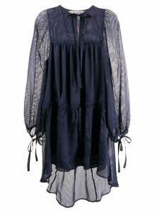 Perseverance London striped asymmetric dress - Blue
