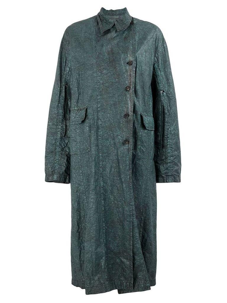 Masnada creased trench coat - Green