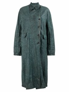 Masnada creased trench coat - Green