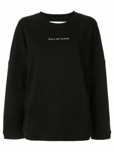 Walk Of Shame logo print sweatshirt - Black