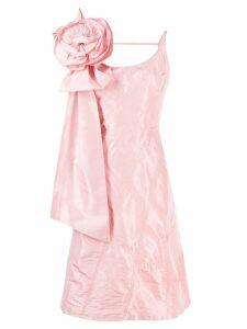 Miu Miu flower appliqué dress - Pink