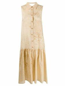 Uma Wang flared shirt dress - NEUTRALS