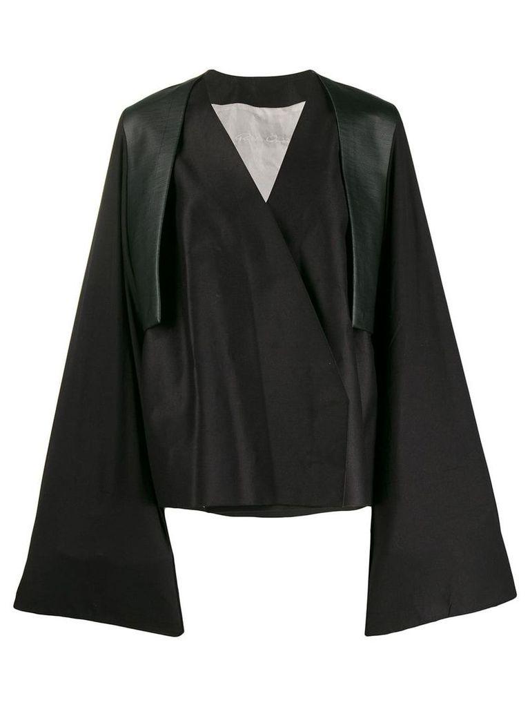 Rick Owens wrap style trench coat - Black
