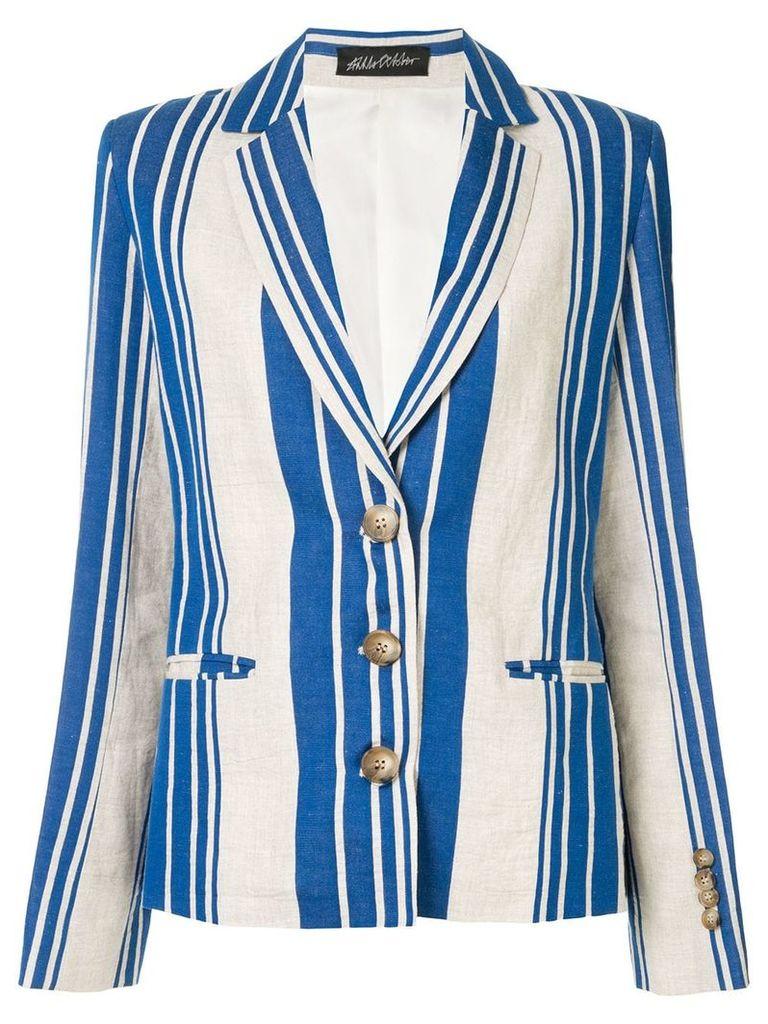 Anna October striped blazer - White