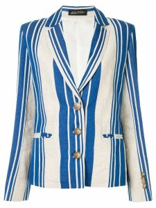 Anna October striped blazer - White