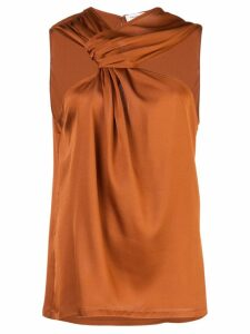 Yigal Azrouel draped knot top - Orange
