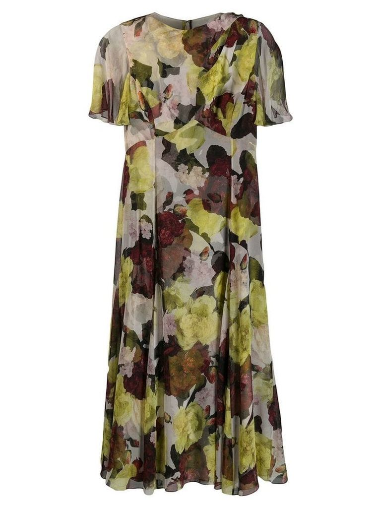 Erdem floral shift dress - Neutrals