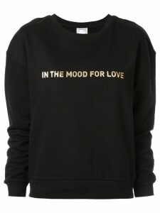 In The Mood For Love logo printed sweater - Black
