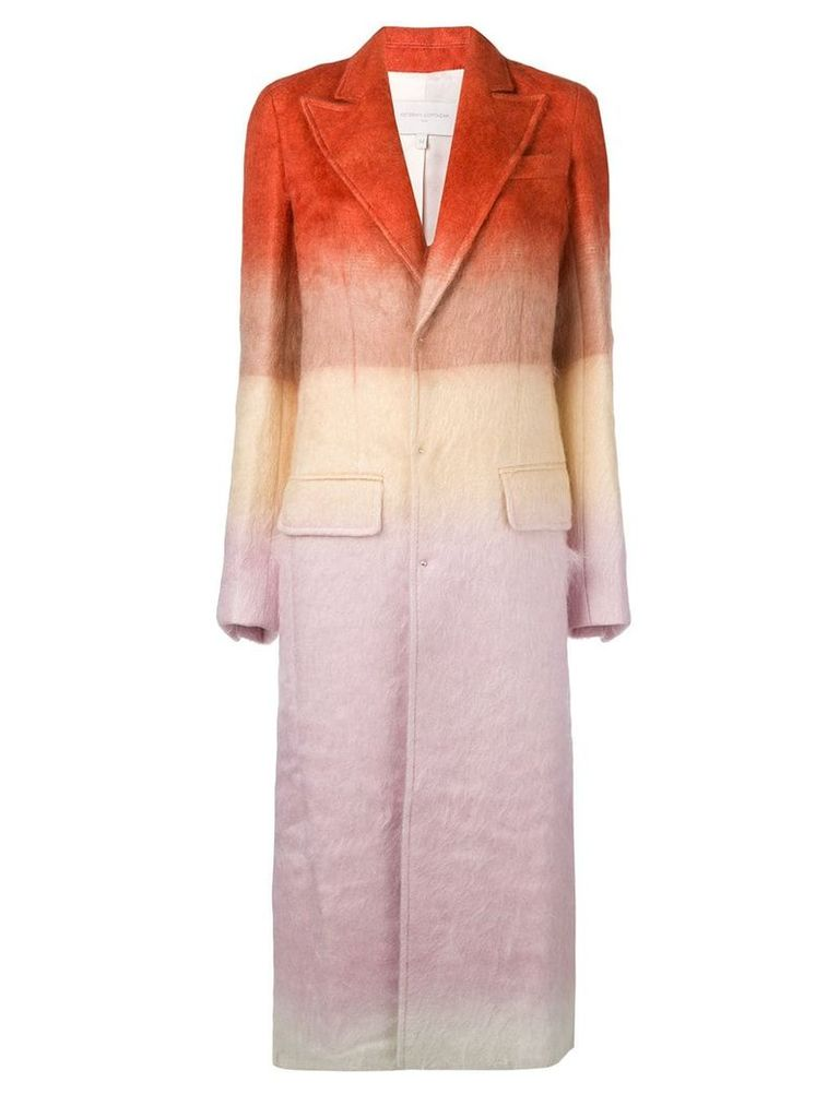 Esteban Cortazar tailored single breasted coat - ORANGE
