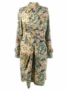 Rokh belted jacquard coat - Neutrals