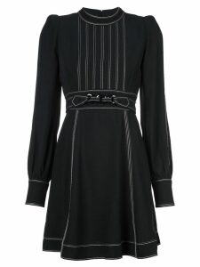 Marc Jacobs structured shoulder day dress - Black