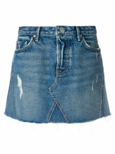Grlfrnd walk this way denim skirt - Blue