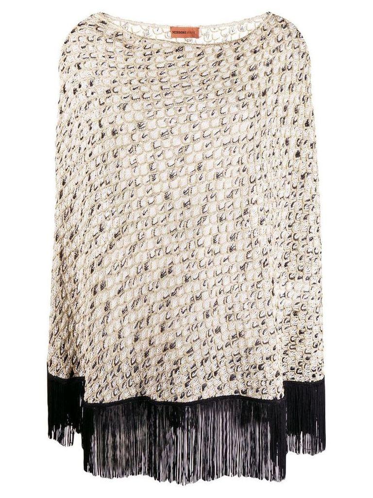 Missoni Mare scale knit poncho - Gold