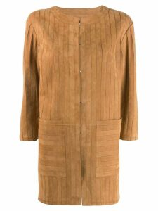 Desa 1972 striped coat - Brown
