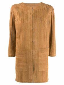 Desa 1972 striped coat - Brown