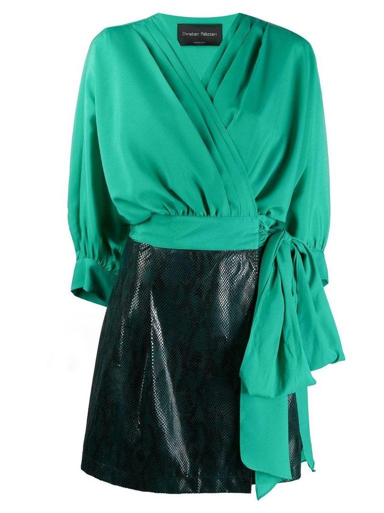 Christian Pellizzari all in one mini dress - Green