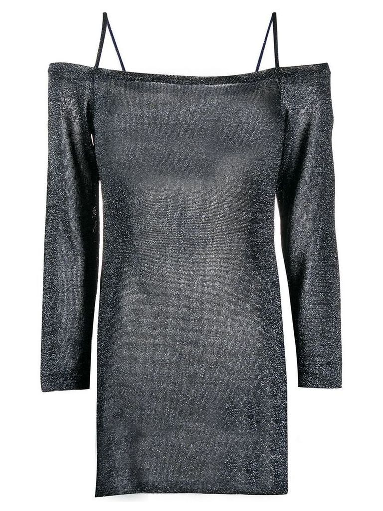 Missoni sparkly knit cold shoulder top - Blue