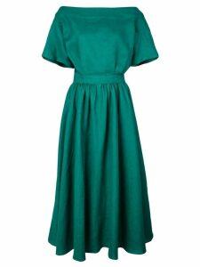 Tome flare structured midi dress - Green