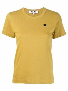 Comme Des Garçons Play Heart embroidered T-shirt - Yellow
