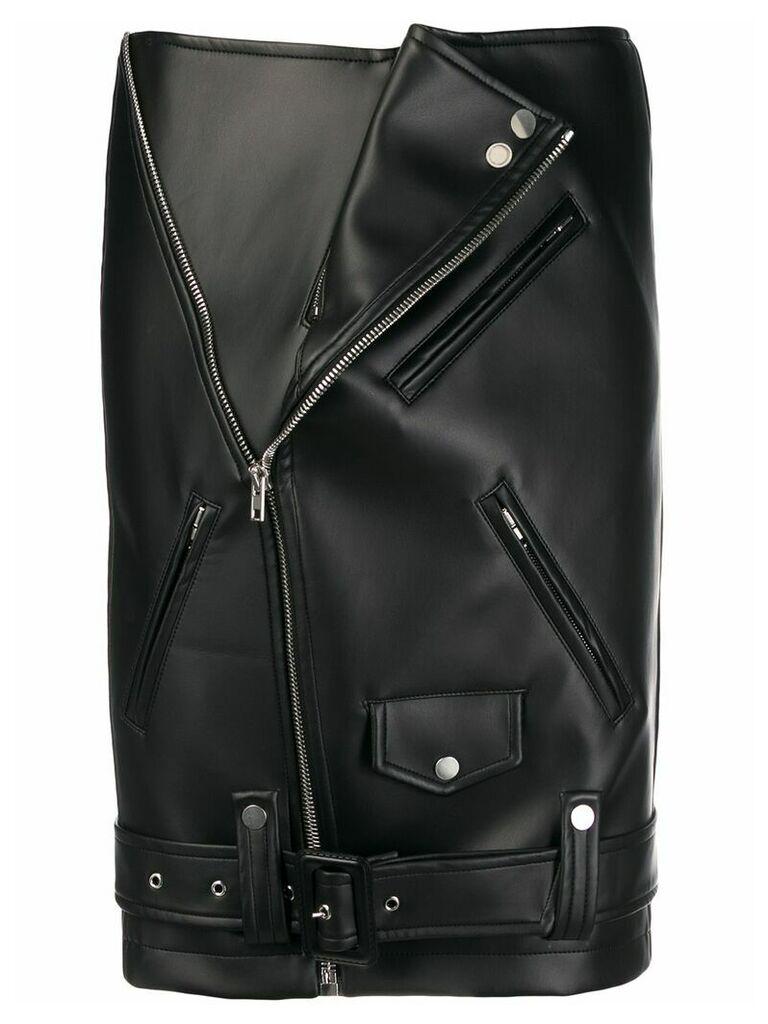 Zilver Biker midi skirt - Black