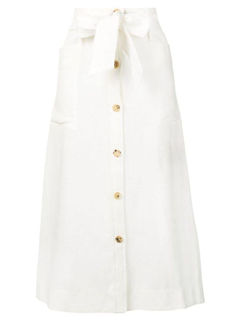 Le Kasha bow-tie detail skirt - White