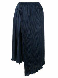 Vince asymmetric pleated skirt - Blue