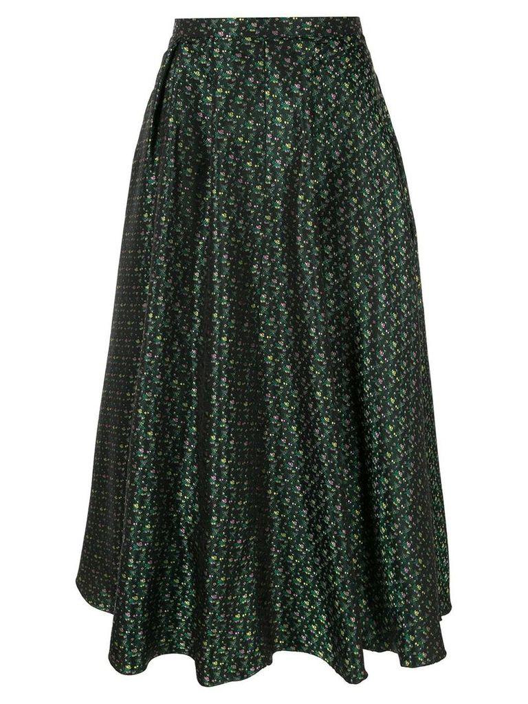Rochas patterned midi skirt - Green