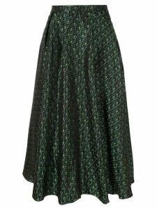 Rochas patterned midi skirt - Green