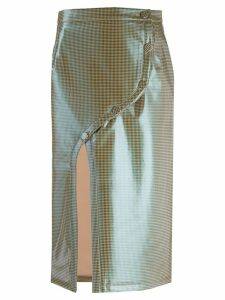 Rokh slit front midi skirt - Neutrals
