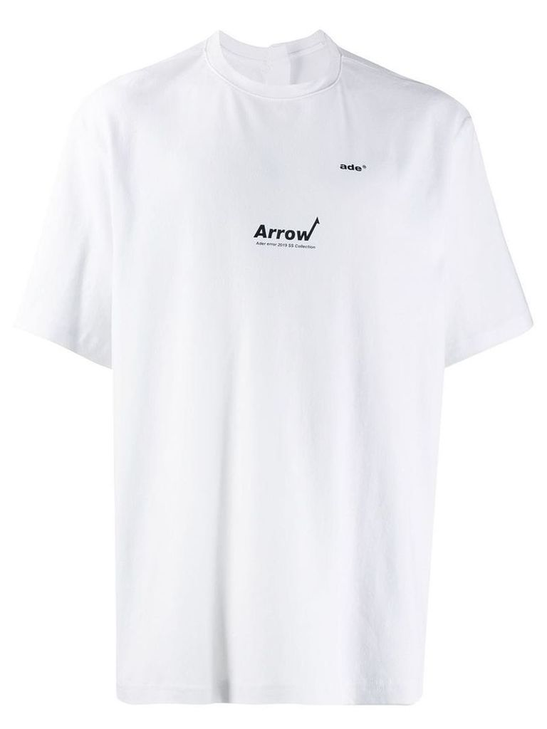 Ader Error Arrow oversized T-shirt - White