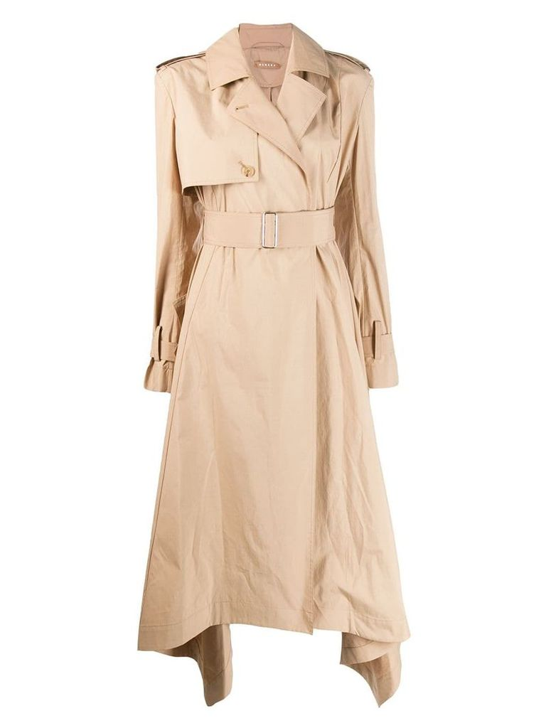 Nehera long structured trenchcoat - Neutrals