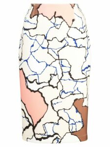 Yigal Azrouel Terrazzo pencil skirt - Multicolour