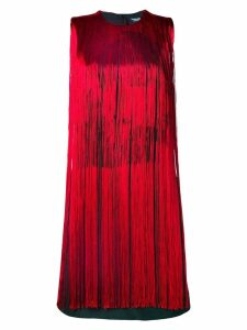 Calvin Klein 205W39nyc fringes flared dress - Black