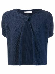Fabiana Filippi cropped knit cardigan - Blue