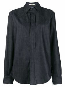 Zilver Button-Down Shirt in Pre-Consumer Recycled Denim - Blue